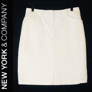 New York & Co Knee Length Skirt